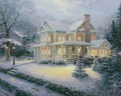 Thomas Kinkade - CANVAS - Placerville Victorian Christmas III - 16X20 S/N