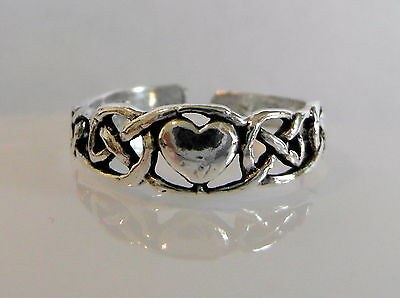 Sterling Silver (925) Adjustable Heart With Buckle  Toe Ring  !! Brand New !!