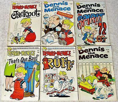 Lot 6 Dennis The Menace Comic Books Jackpot Ruff Spirit Of 72 121 122 116 1971
