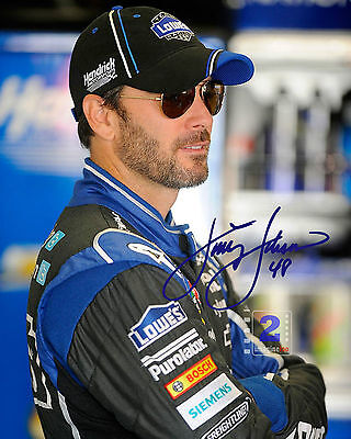 """Jimmie Johnson American NASCAR race car 8""""x 10"""" Signed Great Color PHOTO REPRINT"""