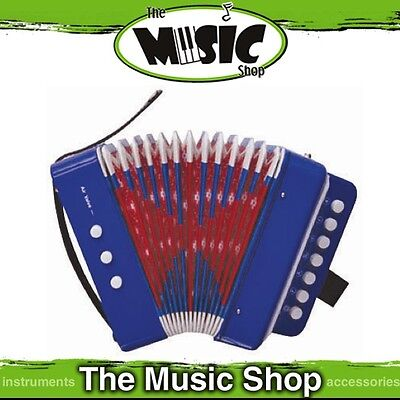 Brand New Junior Button Accordion in Blue - 7 Treble & 2 Bass Buttons - PA815BL