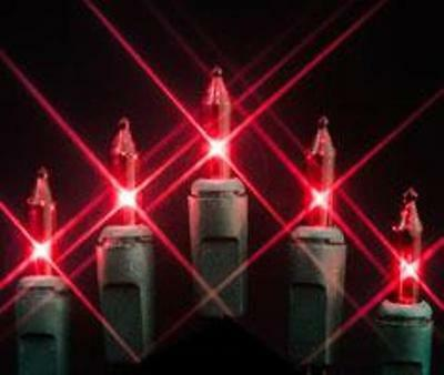 BRIGHT RED MINI LIGHTS ~ SET oF 70 ~ USE IN or OUT ~ 14.5 FEET LONG ~ FREE SHIP