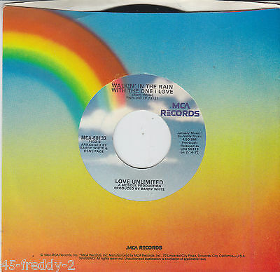 Love Unlimited 45 Walkin In The Rain With The One / I've Found (Soul) Listen NM