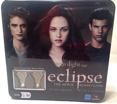 Twilight Saga Eclipse the Movie Board Game w/ Collectible Metal Pieces - Sealed