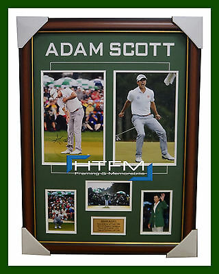 Adam Scott 2013 US Masters Champion Signed Photo Collage Framed - 1880