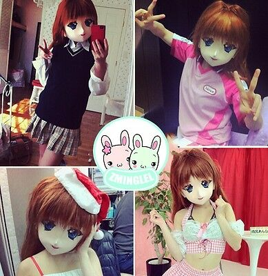 Funny Anime Kawaii Girls Cosplay Face Mask Convention Must-have DIY Handmade