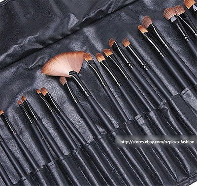 32 Pcs/set Professional Soft Cosmetic Eyebrow Shadow Makeup Brushes + Pouch Bag