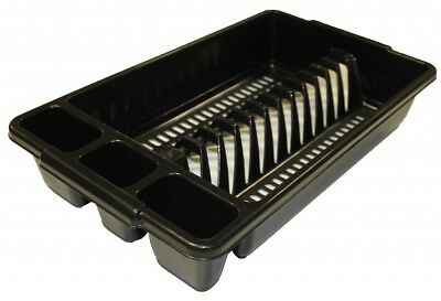 Tontarelli Dish / Plate / Cutlery Sink Drainer - Small -  Black