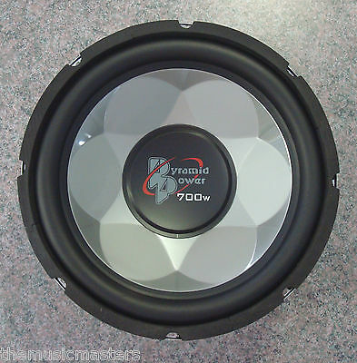 """Single 12"""" inch 4 ohm Chrome Car Audio Poly Woofer Subwoofer Bass Speaker Driver"""