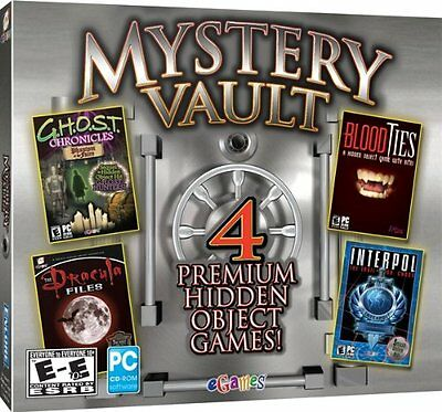 Mystery Vault 4 Premium Hidden Object Games PC NEW & SEALED SF-96