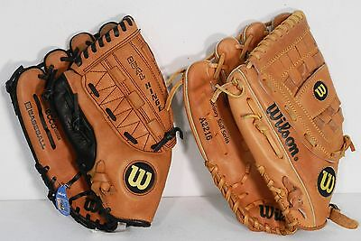 LOT of 24 Leather Baseball Gloves- Easton, Rawlings, Wilson; Right and Left -NEW