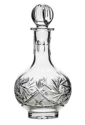 Russian Cut Crystal Glass Decanter with Stopper 16 oz - Soviet Vodka Glassware