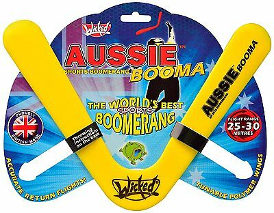 Boomerang d'exterieur Wicked Aussie Booma - 3 couleurs disponibles