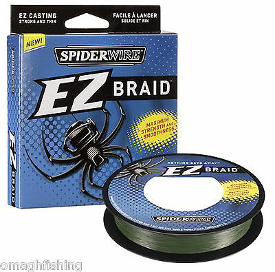 Spiderwire EZ Braided Line 300yd*15LB,20lb,30lb,50lb*Coarse Carp Pike Fishing