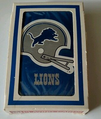 Detroit Lions NFL official licensed playing cards sealed and boxed vintage
