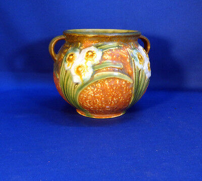"""Roseville Jonquil Vintage 1931 Vase with Handles 4"""" by 5"""""""