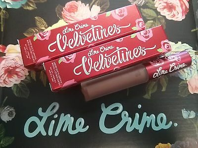 LIME CRIME Velvetines Liquid Lipstick Matte CASHMERE, RIOT, WICKED, RAVE- CHOOSE