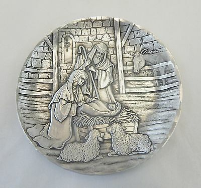 Wendell August Forge Small Nativity Scene Plate