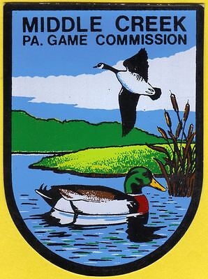 Pa Penna Game Commission New Middlecreek Waterfowl Mgnt Area Collectible DECAL