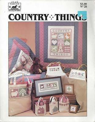 Cross Stitch PATTERN Booklet Country Things