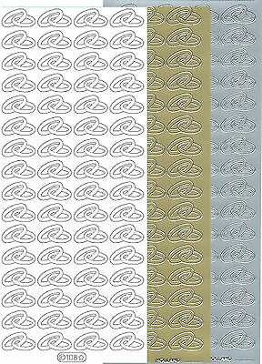 Starform Outline Stickers N° 108 Mariage Alliance Weddings Rings Auto-collants
