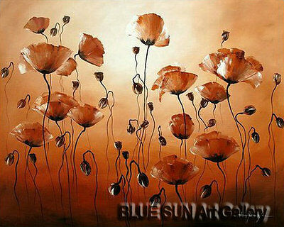 Modern oil painting on Canvas Wall Art Deco Poppy Flower Hand Painted 20×24 BD03