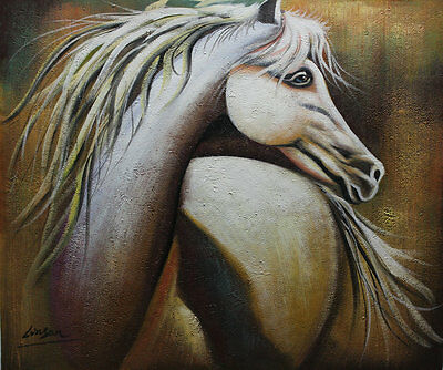 Modern oil painting canvas wall art Deco Horses painting Handmade 20×24 M108