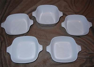 Lot 5 Petite Pan Corning Ware Blue Cornflower Pyrex 1 3/4 2 3/4 Cup Small Dishes
