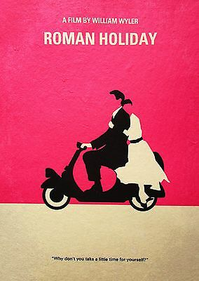 ROMAN HOLIDAY   Art print painting poster Film movie wall Decor A3 SIZE