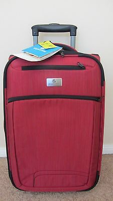 "Eagle Creek Crossroad Collection Upright 22"" Wheeled Carry-On Luggage Rio Red"