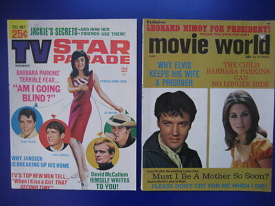 1960s vintage movie world TV star parade elvis presley cover magazine 1965 1968
