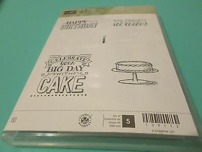 STAMPIN UP BIG DAY 5 PC CLEAR MOUNT SALE-A-BRATION STAMP SET