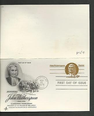 UY26 FDC 9c JOHN WITHERSPOON REPLY CARD ARTCRAFT U/A