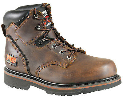 Mens Timberland PRO 33046 Pit Boss Soft Toe Work Boot 6-Inch Brown (E,W)