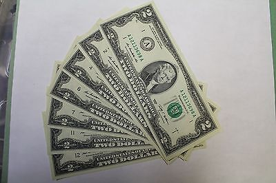 Series 2009 Two Dollar Notes Complete Set All New and Uncirculated $2