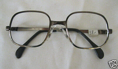 VINTAGE Brille Metall Brillenfassung Holland Optiker ladenneu Mocca-braun 28M