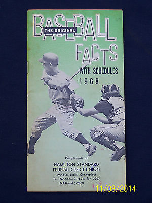 1968 The Original Baseball Facts with Schedules