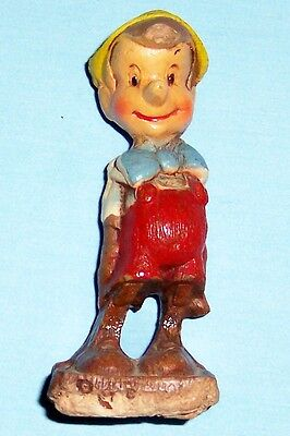 Vintage Wood Composite Pinocchio Figurine - Disney - Multi Products Chicago