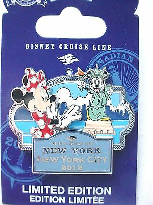 Disney Cruise Line 2012  NEW  YORK CITY with Minnie and Statue of Liberty LE Pin