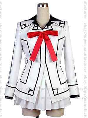 New Style VAMPIRE KNIGHT Yuki Night Class White Uniform Cosplay Costume #07