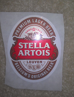 BEER Sticker Stella Artois 2.5 inches by 3 inches lager label