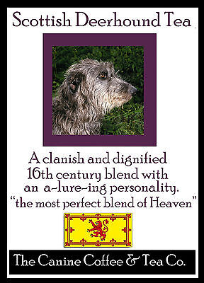 Scottish Deerhound   Tea -   breakfast  tea   in collectible tin