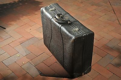 Rare Vintage Leather Suitcase. Excellent. Clean. Genuine Seal Skin.