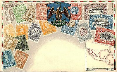 Mexico Zeiher Stamp Postcard