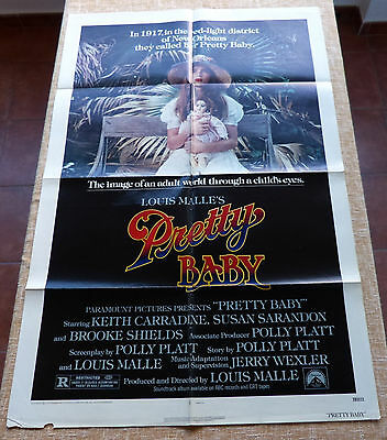 Pretty Baby Movie Poster, Original, Folded, One Sheet, year 1978, Litho in USA