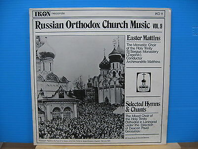RUSSIAN ORTHODOX CHURCH MUSIC V9-EASTER MATTINS/selected hymns/CHANTS freeUKPOST