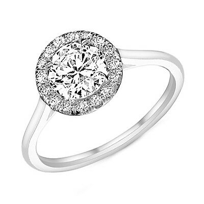 GIA Certified Round Diamond Engagement Ring 0.80ctw Antique Style in Platinum