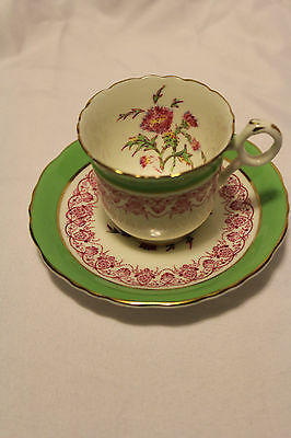 CAULDON JESDON V.9589H BONE CHINA MADE IN ENGLAND DEMITASSE/TEA CUP & SAUCER