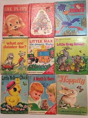 7 Rand McNally Junior Elf Yellow Chick, Hoppity, More And 2 Whitman Tell A Tale