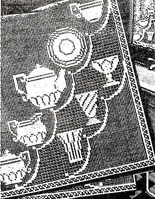 6487 Vintage AB Filet KITCHEN CURTAINS Pattern to Crochet (Reproduction)